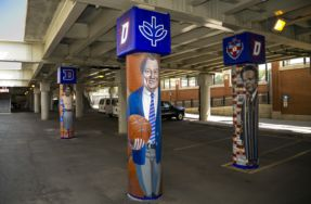 Four New Murals Under Fullerton 'L' Station Explore DePaul University Milestones