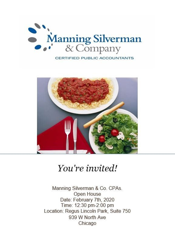 Manning Silverman & Company - Open House